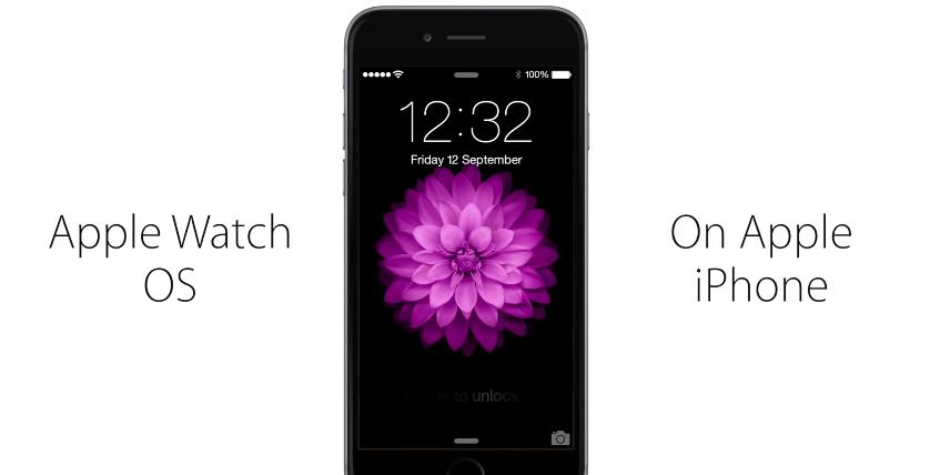 watchOSoniPhone