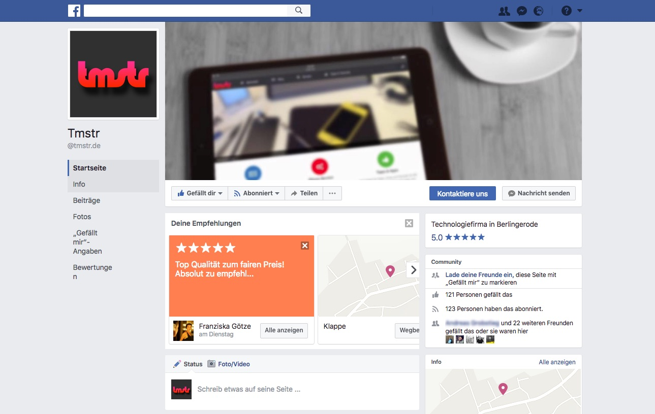 tmstr – Neuer Name und neue Facebook-Seite