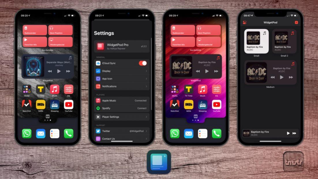 WidgetPod – Now Playing Widget für Apple Music und Spotify