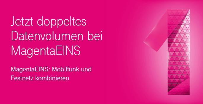 Ab heute: Doppeltes Datenvolumen für MagentaEINS-Kunden
