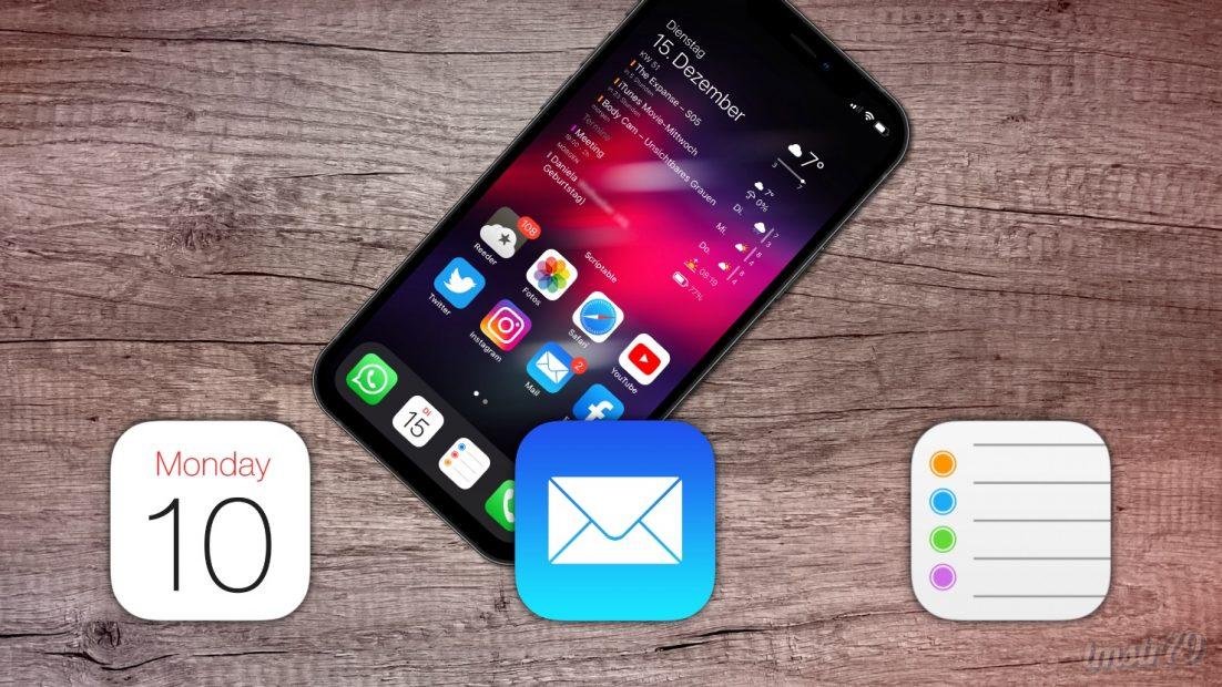 Mail, Kalender, Erinnerungen – Zurück zu den Standard-Apps
