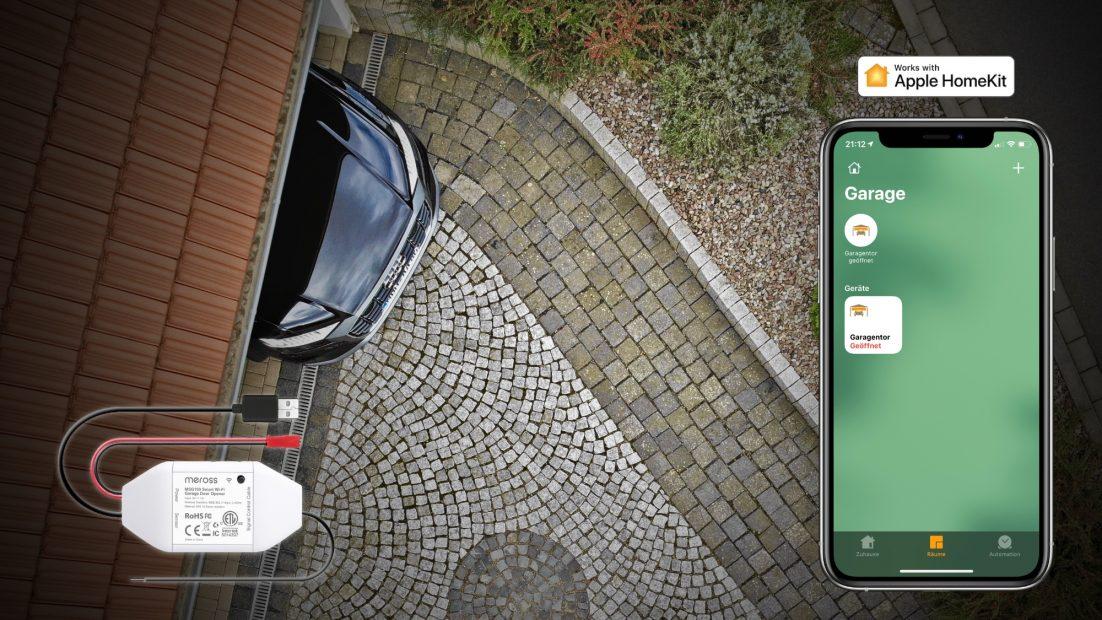 Meross MSG100HK – Smartes Garagentor-Modul mit HomeKit-Unterstützung