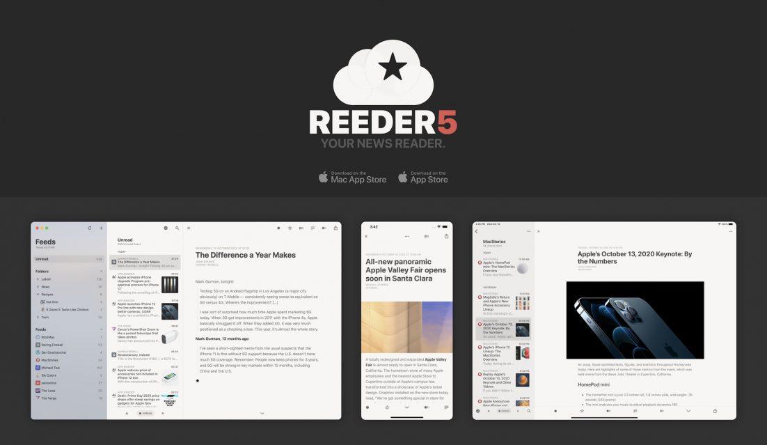 Reeder 5 für iOS, iPadOS und macOS erschienen