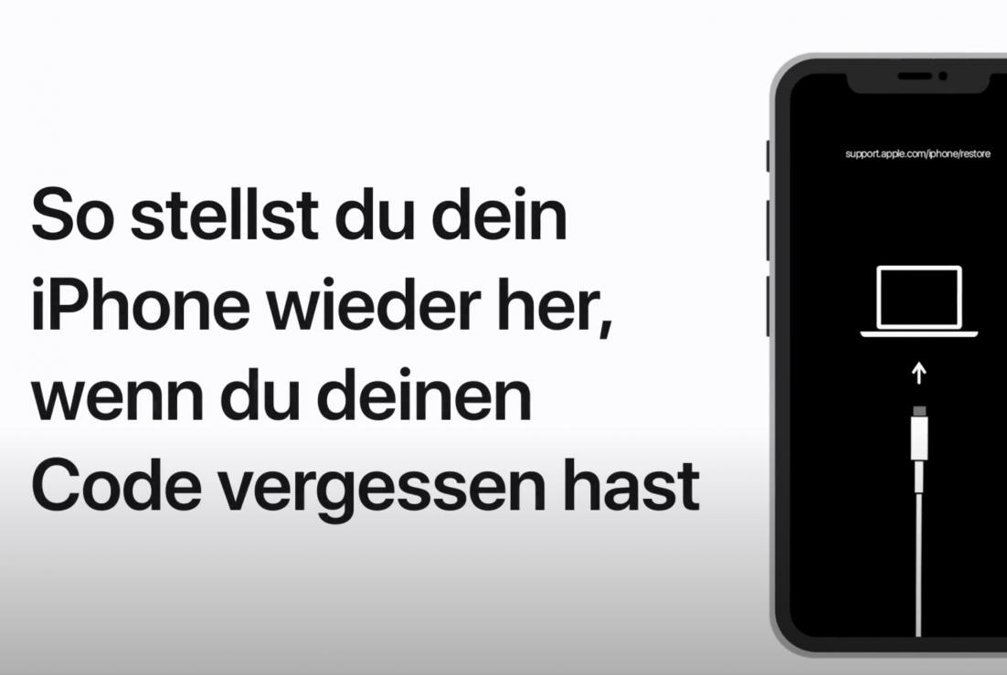 iPhone Wiederherstellung, nachdem man seinen Code vergessen hat